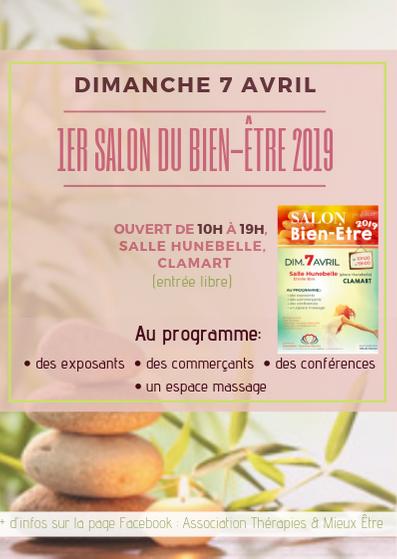 1er Salon du Bien-Être à Clamart 23 Exposants - 7 stands de massage - 11 conférences